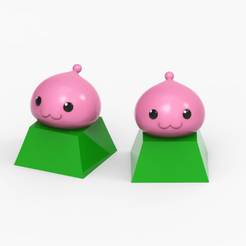 poring.png Download STL file Poringu Keycap Fan Art • 3D printable template, seberdra