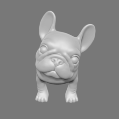 FBD01.png Download STL file Question French Bulldog • 3D printer template, seberdra