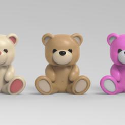 teddy.51.png Download STL file Cute Teddy Bear SD card Storage • 3D printer template, seberdra