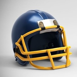 3D print files American Football Helmet for 3Dprint model, seberdra