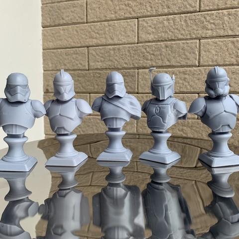 3D printing model 1stOrder StormTrooper Bust Fan Art 3D print model, seberdra