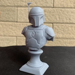 Modelos 3D Boba Fett Busto Fan Art Modelo de impresión en 3D, seberdra