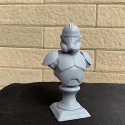 Diseños 3D Clone Trooper Phase 2 Bust Fan Art Modelo de impresión en 3D, seberdra