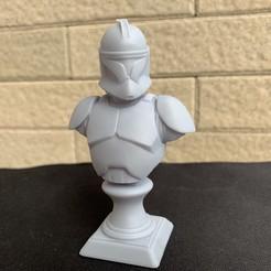 Modelos 3D Clone Trooper Phase 1 Bust Fan Art Modelo de impresión en 3D, seberdra