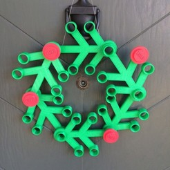 Download free 3D printing designs Giant Lego Christmas Wreath, Boyvard