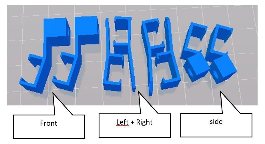 left_right_front_side_display_large.jpg Télécharger fichier STL gratuit IKEA Dioder clamps pour Ultimaker Original • Plan imprimable en 3D, Boyvard