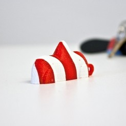 Free STL file Swedish Candy Car Keyring - CandyCane Edition!, Boyvard