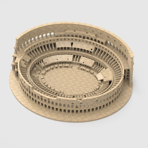 untitled843_1_display_large.jpg Download free STL file Roman Colosseum Completley Detailed See The World • Object to 3D print, Boyvard