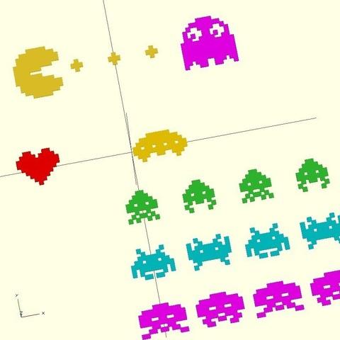 pixelthings_display_large.jpg Download free STL file 8bit PixelThings • 3D printing model, Girthnath