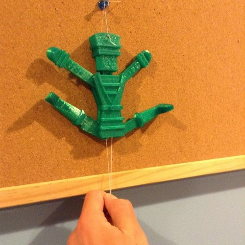 Free 3D printer designs Pull-String Nutcracker Ornament, Girthnath