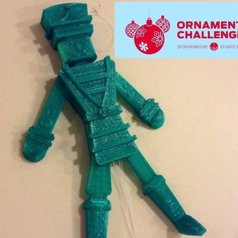 pic3_display_large.jpg Download free STL file Pull-String Nutcracker Ornament • 3D printer template, Girthnath