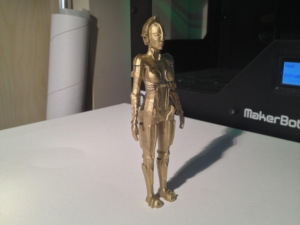 IMG_1828_display_large.jpg Download free STL file Metropolis Robot (Maria) with Rings • 3D printer design, Girthnath