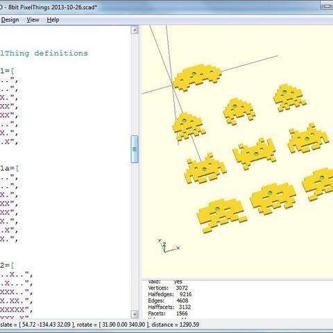 pixelthingsscreenshot_display_large.jpg Download free STL file 8bit PixelThings • 3D printing model, Girthnath