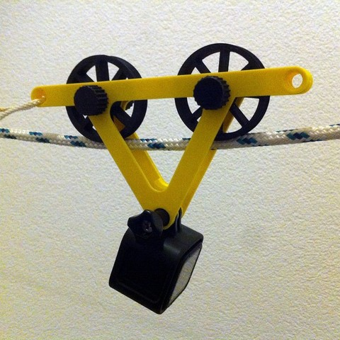 Free 3D printer model GoPro Cable Dolly, Girthnath