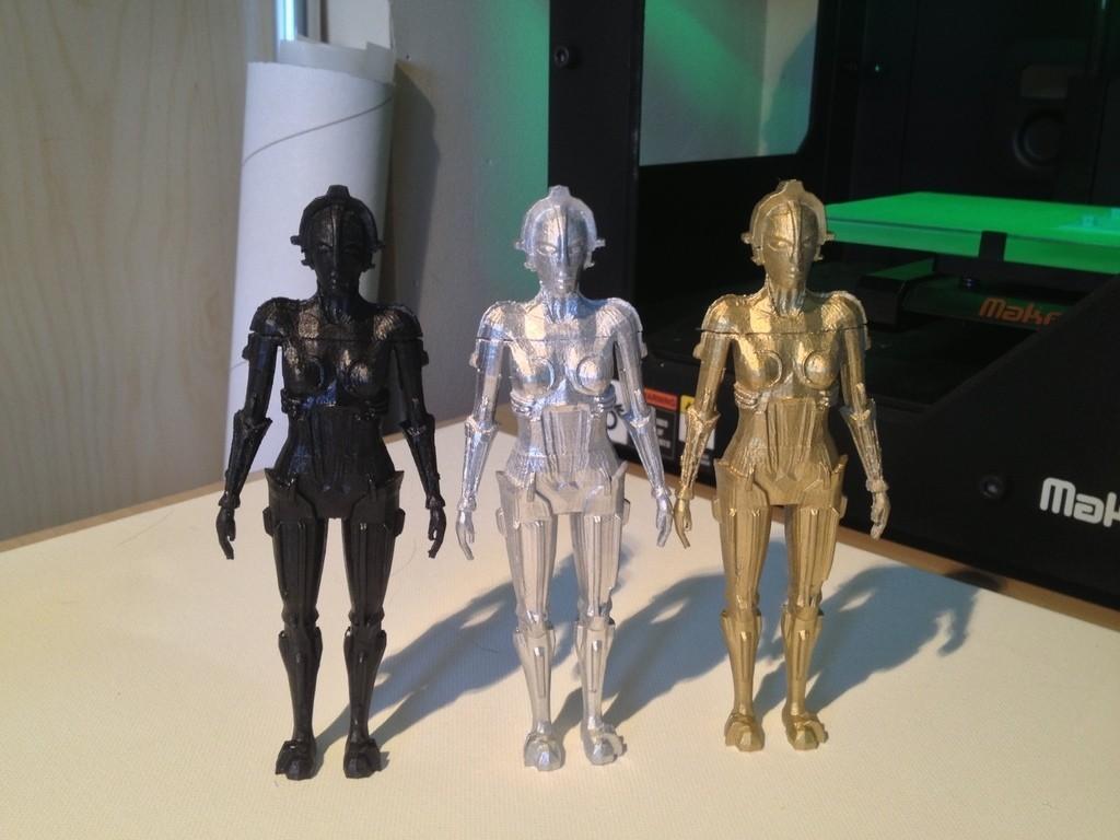 IMG_1877_display_large.jpg Download free STL file Metropolis Robot (Maria) with Rings • 3D printer design, Girthnath