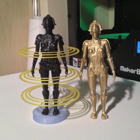 IMG_1856_display_large.jpg Download free STL file Metropolis Robot (Maria) with Rings • 3D printer design, Girthnath