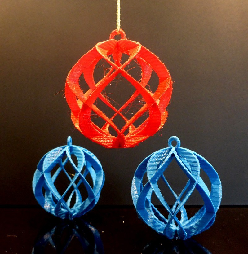 P1000502_display_large.jpg Download free STL file Spiral Sphere Ornament - Customizer enabled • 3D printing design, Girthnath