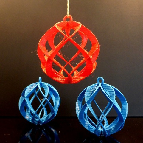 Download free 3D printer designs Spiral Sphere Ornament - Customizer enabled, Girthnath