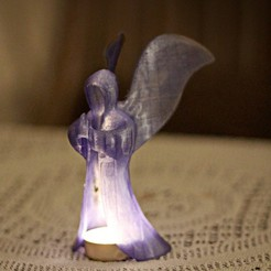 Download free 3D printing models glowing angel, Durbanarb