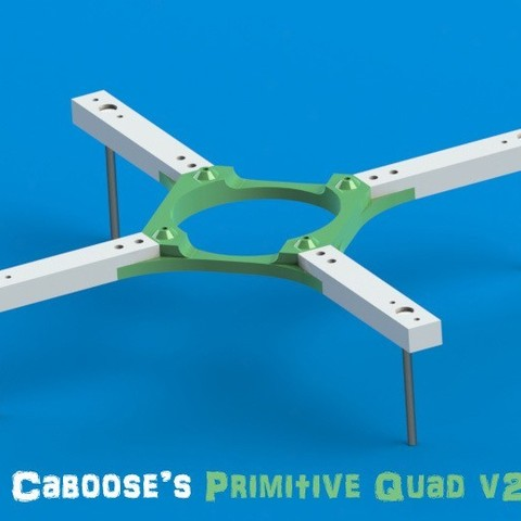 cpqv2_display_large.jpg Download free STL file Caboose's Primitive Quadcopter • Object to 3D print, Durbanarb