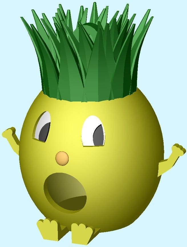 PineappleMan_display_large.jpg Télécharger fichier STL gratuit Maison d'oiseau de l'homme ananas • Objet pour impression 3D, Durbanarb