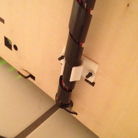 Free STL Replicator Rear Extruder Cable Clip, Durbanarb