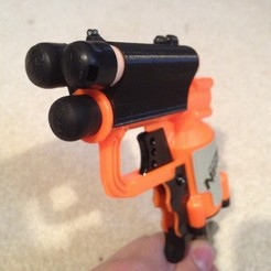 Download free 3D printing designs Nerf Jolt EX-1 Dart Holder (One or Two Darts!), Durbanarb