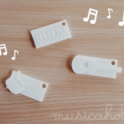 Free 3D printer model musicaholic keychain x nametag, Durbanarb