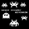 Download free 3D printer templates 8-bit space invader keychain, Durbanarb