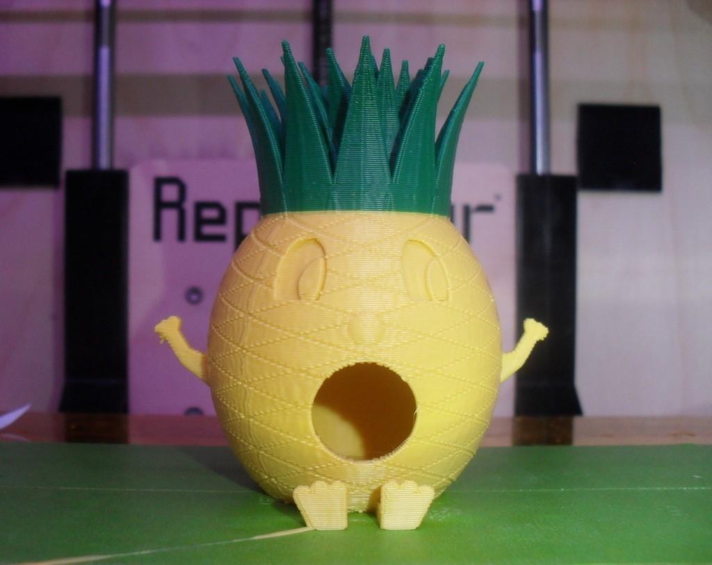 PineappleMan5_display_large.jpg Télécharger fichier STL gratuit Maison d'oiseau de l'homme ananas • Objet pour impression 3D, Durbanarb