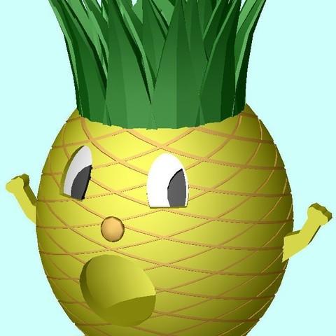 PineappleMan3_display_large.jpg Télécharger fichier STL gratuit Maison d'oiseau de l'homme ananas • Objet pour impression 3D, Durbanarb