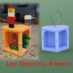 Free STL files Lego Compatible Ornament, Durbanarb