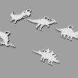 Impresiones 3D gratis llavero dino 8-bit, Durbanarb