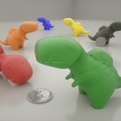 Download free 3D printer model Tiny T-Rex, Bolnarb