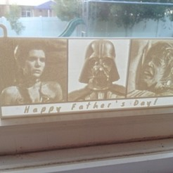 Download free 3D printer templates Happy Father's Day Darth Vader Lithophane, Bolnarb