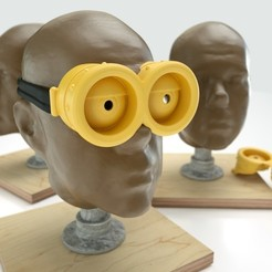 Download free 3D printer files Minion Goggles, Bolnarb