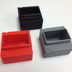 Download free 3D print files Electricial Box Card Holder, Bolnarb