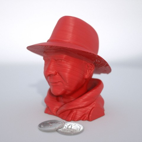 Free 3D printer model Man Wearing a Stetson, Bolnarb