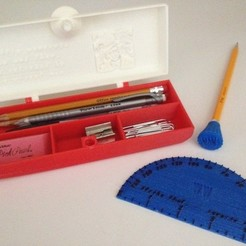 Free STL Customizable Locking Pencil Box Set, Bolnarb