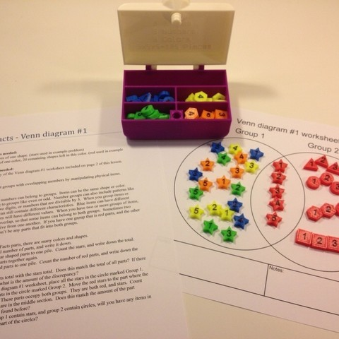 Download free 3D printer files Math Facts - Numbers, Shapes, Colors, Bolnarb
