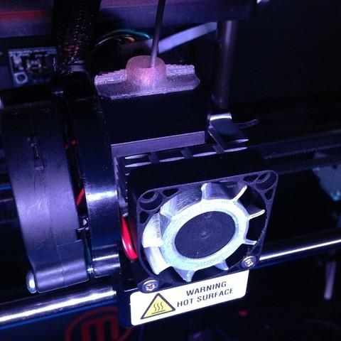 Free 3D print files Replicator 2 Extruder Fan Blade Retrofit, Bolnarb