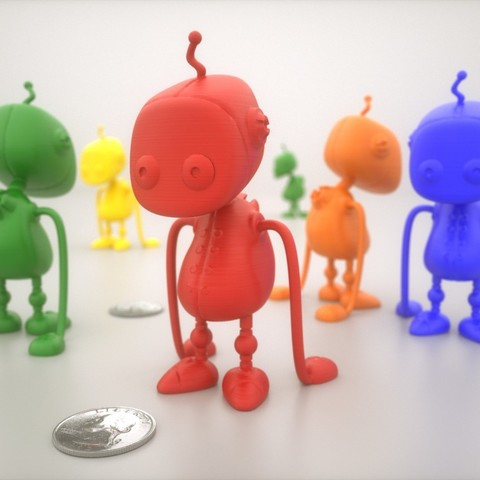 Free 3D printer files Worker-bot, Bolnarb