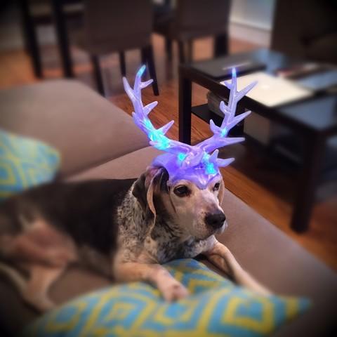 Free 3D printer designs Christmas Antlers, Bolnarb