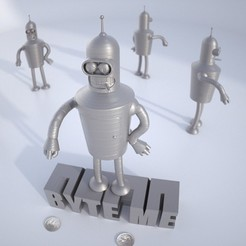 Download free 3D printer designs Bender Bending Rodríguez, Bolnarb