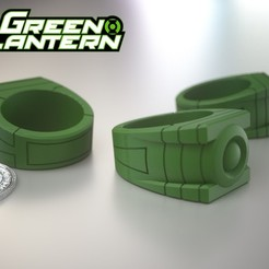 Free 3D printer designs Green Lantern's Ring, Bolnarb