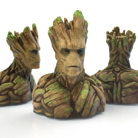 Fichier STL gratuit Groot Buste Groot Sculpture, Bolnarb