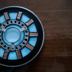 Download free 3D printing designs Wearable Arc reactor for  Electroluminescent Tshirt, Bolnarb