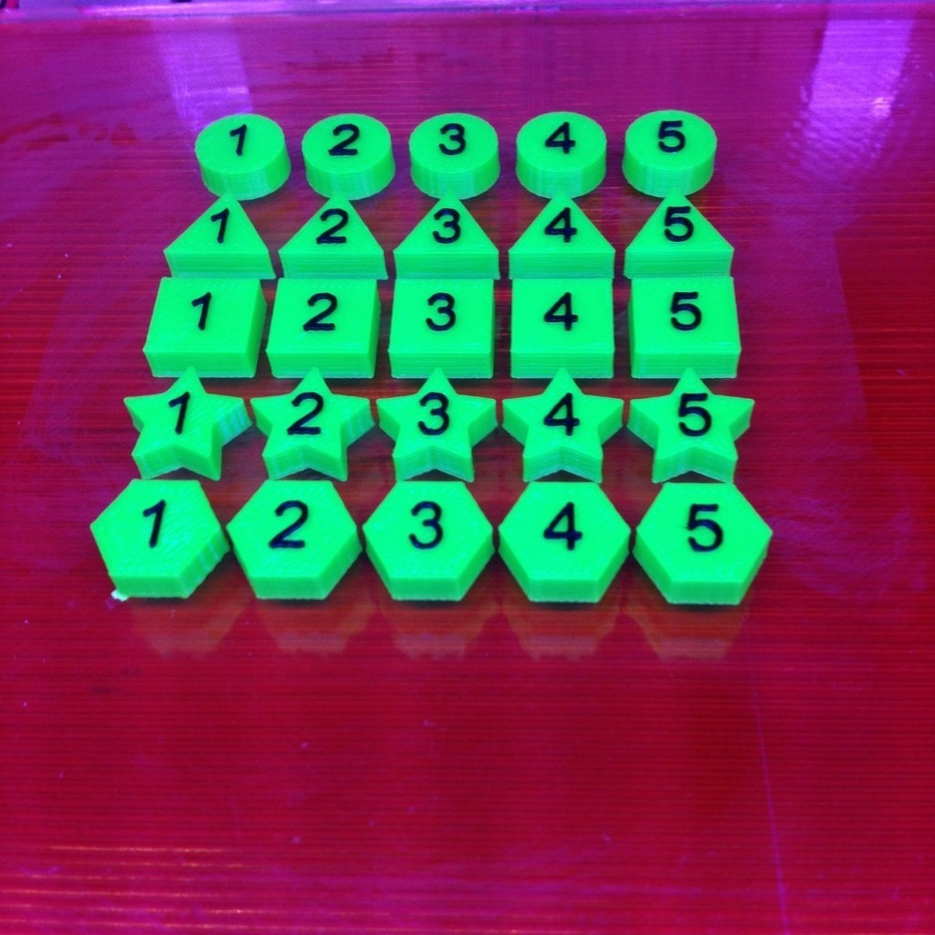 Green_Parts_display_large.jpg Download free STL file Math Facts - Numbers, Shapes, Colors • Template to 3D print, Bolnarb