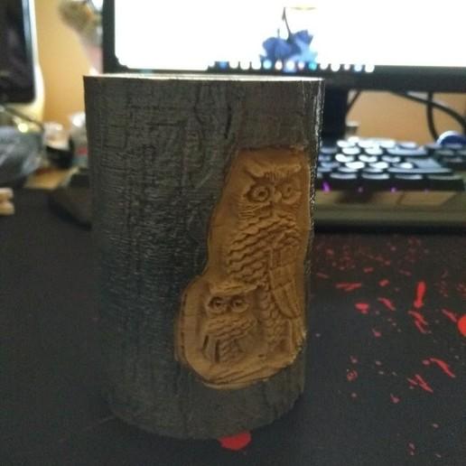 Download free 3D printer templates Carved pencil pot, veroniqueduval9118
