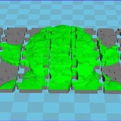 Capture11.JPG Download STL file YODA 3D relief puzzle 49 pieces • 3D print object, veroniqueduval9118